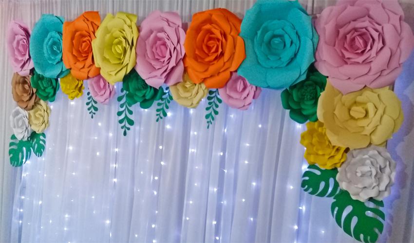 Painel De Flores Como Fazer Com Flores Gigantes De Papel